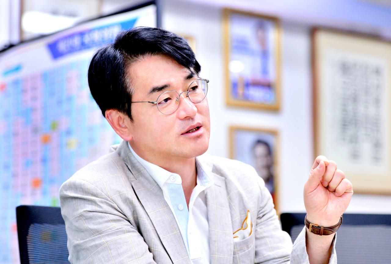 Rep. Park Yong-jin of Democratic Party of Korea (Park Hyun-koo/The Korea Herald)