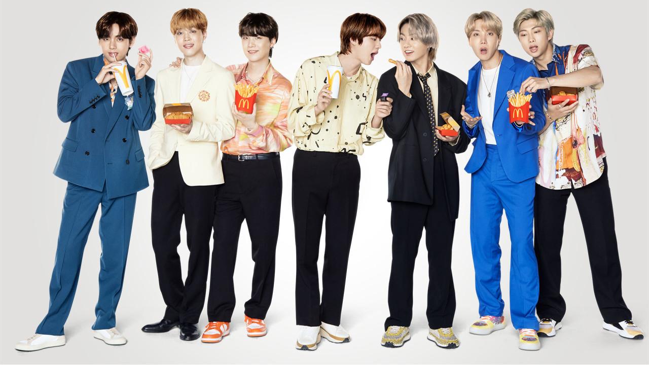 K-pop boy group BTS (McDonald's Korea)