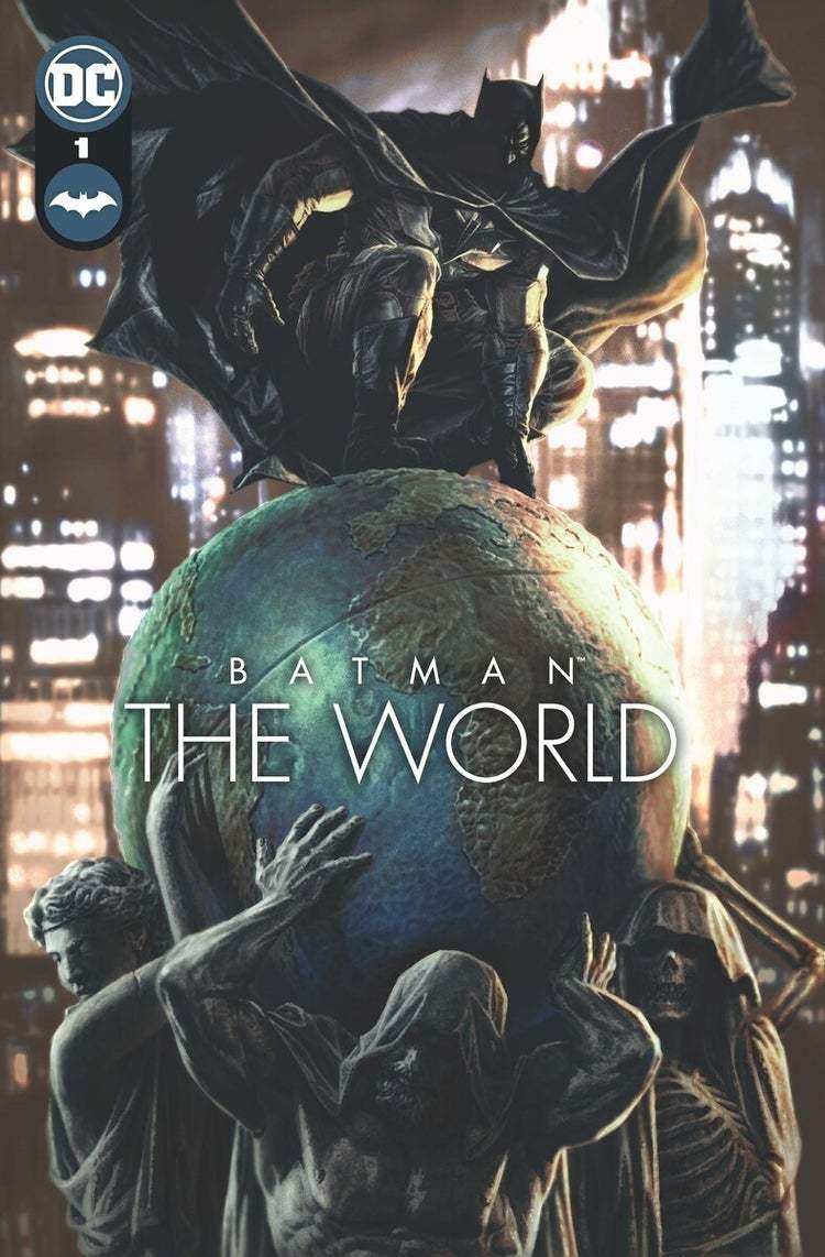 """Cover and poster for """"Batman: The World"""" (DC Comics)"""
