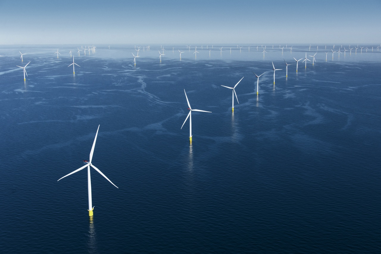 Anholt Offshore Wind Farm in Denmark with an installed capacity of 400 MW.(Orsted)