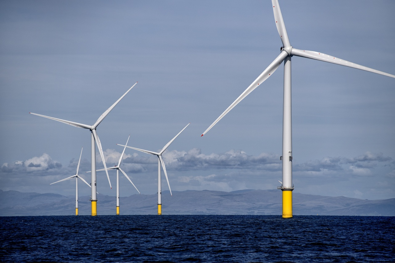 Walney Extension Offshore Wind Farm in the United Kingdom with an installed capacity of 659 MW.(Orsted)