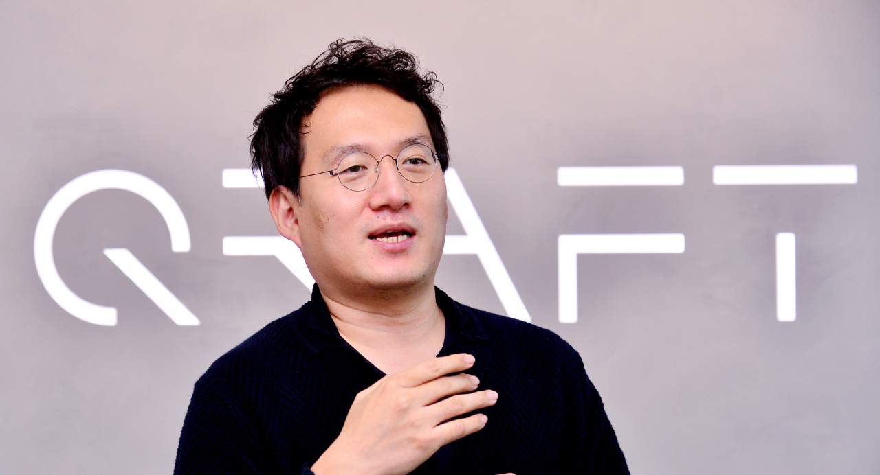 Qraft Technologies CEO Kim Hyung-sik speaks in an interview with The Korea Herald. (Park Hyun-koo/The Korea Herald)