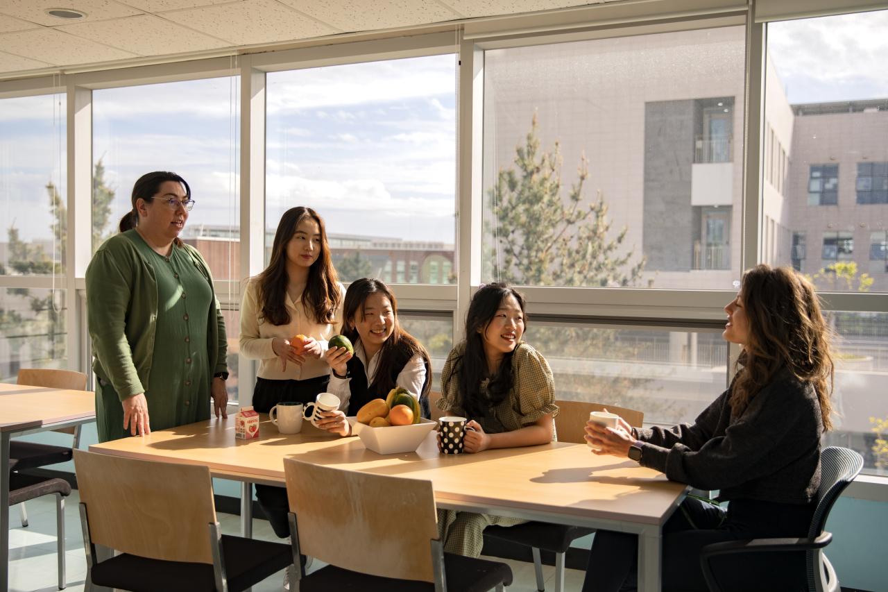 Students and teachers at North London Collegiate School Jeju (NLCS Jeju)