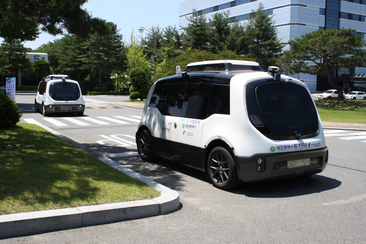 The Electronics and Telecommunications Research Institute's self-driving vehicle AutoVe (ETRI)