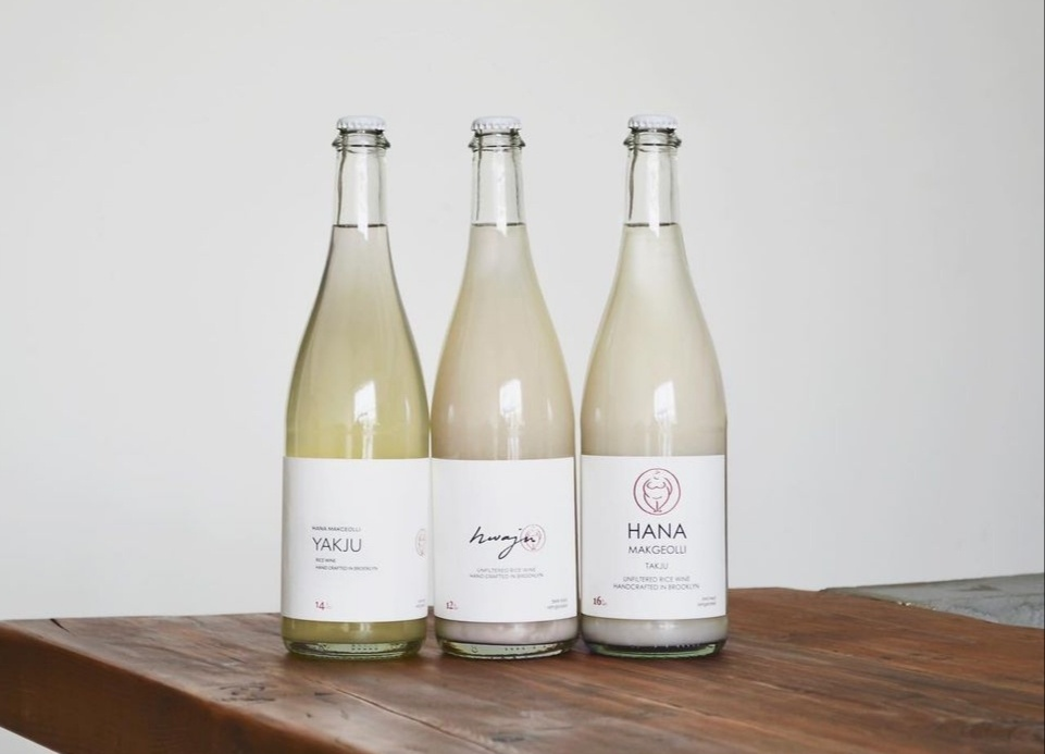 """Hana Makgeolli produces three brews that are crafted from rice grown in Maxwell, California, a wheat-and-barley """"nuruk"""" from Gwangju and filtered New York water. (Hana Makgeolli)"""