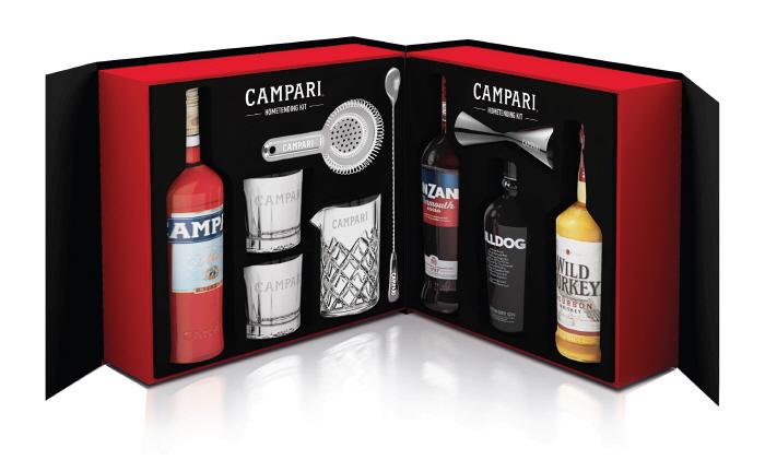 Home bartending kit by Italian liquor brand Campari (GS Retail)