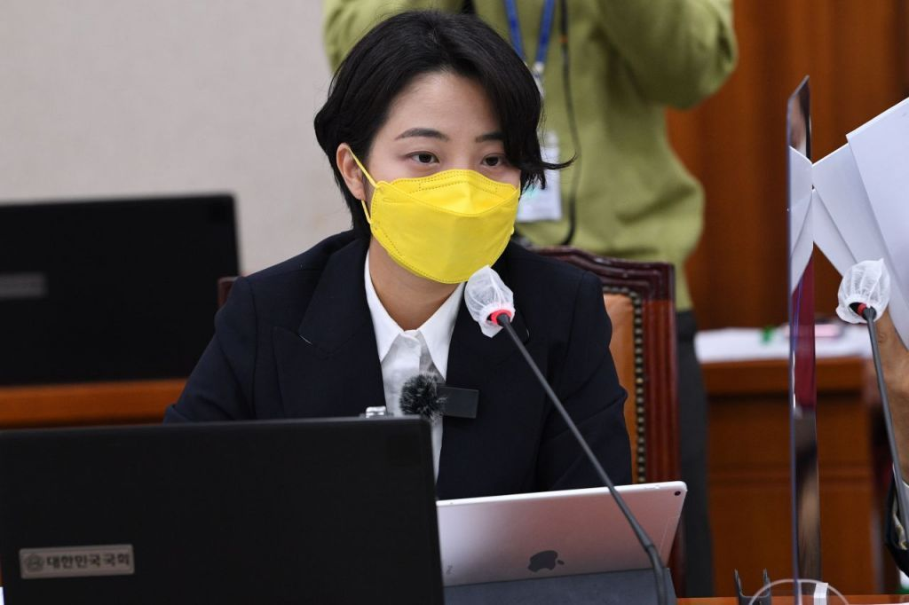 This photo shows Rep. Ryu Ho-jeong of the Justice Party. (Yonhap)