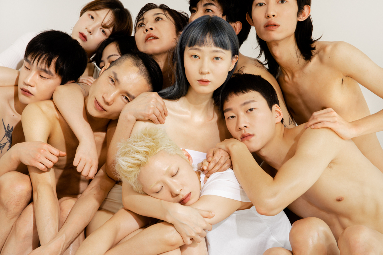 Models, some of whom are sexual minorities, pose for Eve in 2020. (Instinctus Co.)
