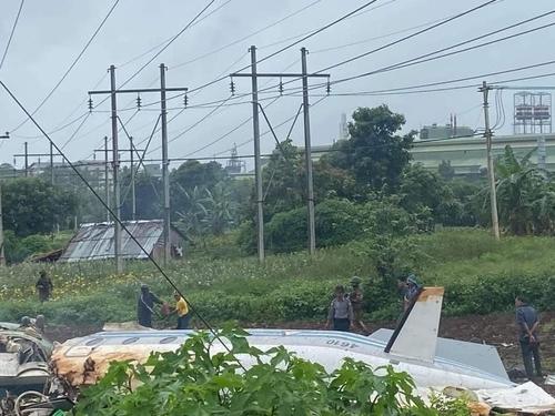 Myanmar military plane crash kills 12, including senior monk (Captured from Twitter)