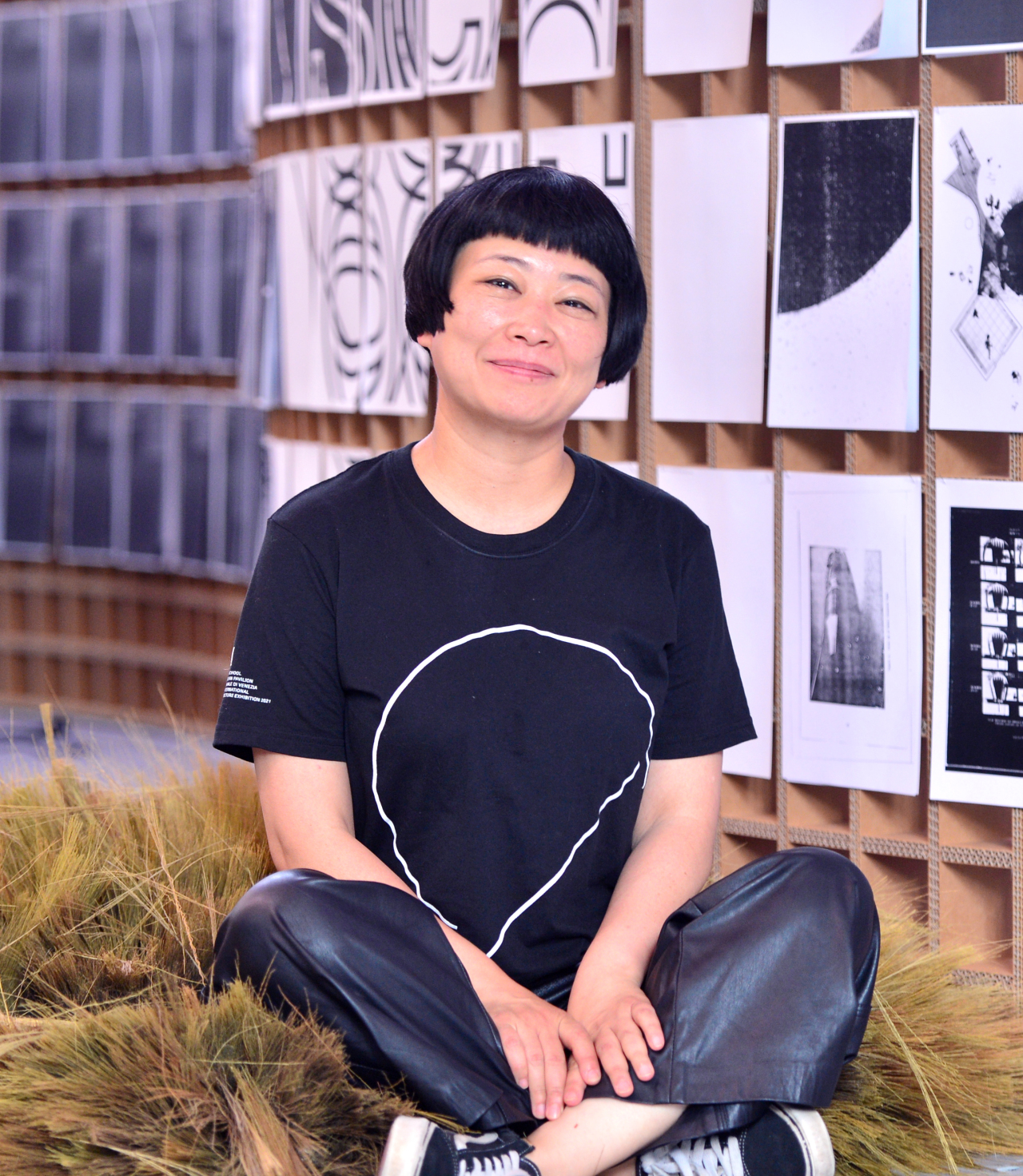 Shin Hae-won, curator of the Korean Pavilion at the 2021 Venice Architecture Biennale, poses for a photo at the Arko Art Center in Seoul, Thursday. (Park Hyun-koo/The Korea Herald)