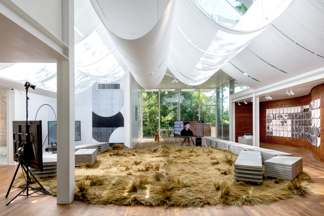 An installation view of the Korean Pavilion at the 2021 Venice Architecture Biennale in Venice, Italy (Arts Council Korea)