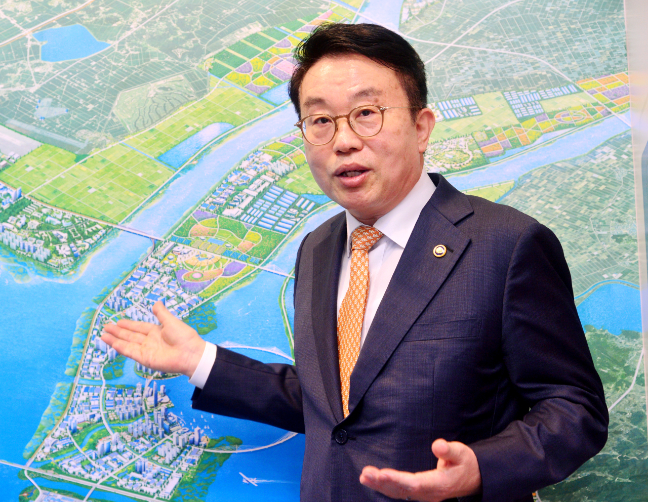 Yang Choong-mo, administrator of the Saemangeum Development and Investment Agency (Park Hyun-koo/The Korea Herald)