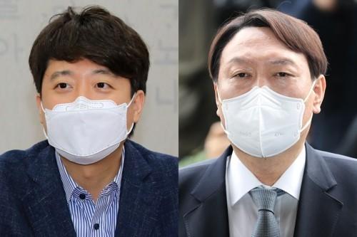 Lee Jun-seok (left photo) and Yoon Seok-youl (Yonhap)