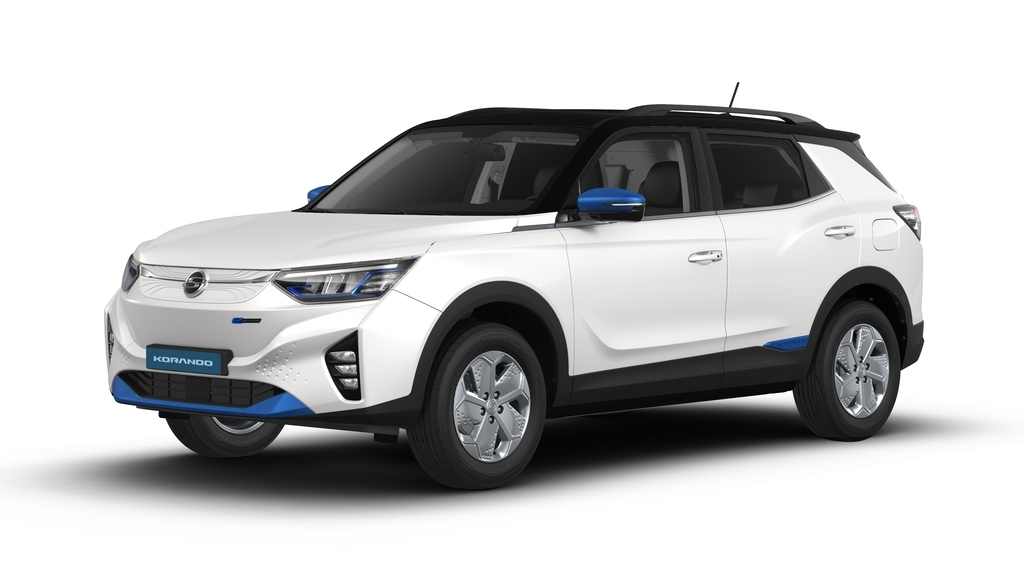 SsangYong Motor Co.'s first electric vehicle, the Korando Emotion SUV, is seen in this photo provided by the automaker on Tuesday. (SsangYong Motor Co.)