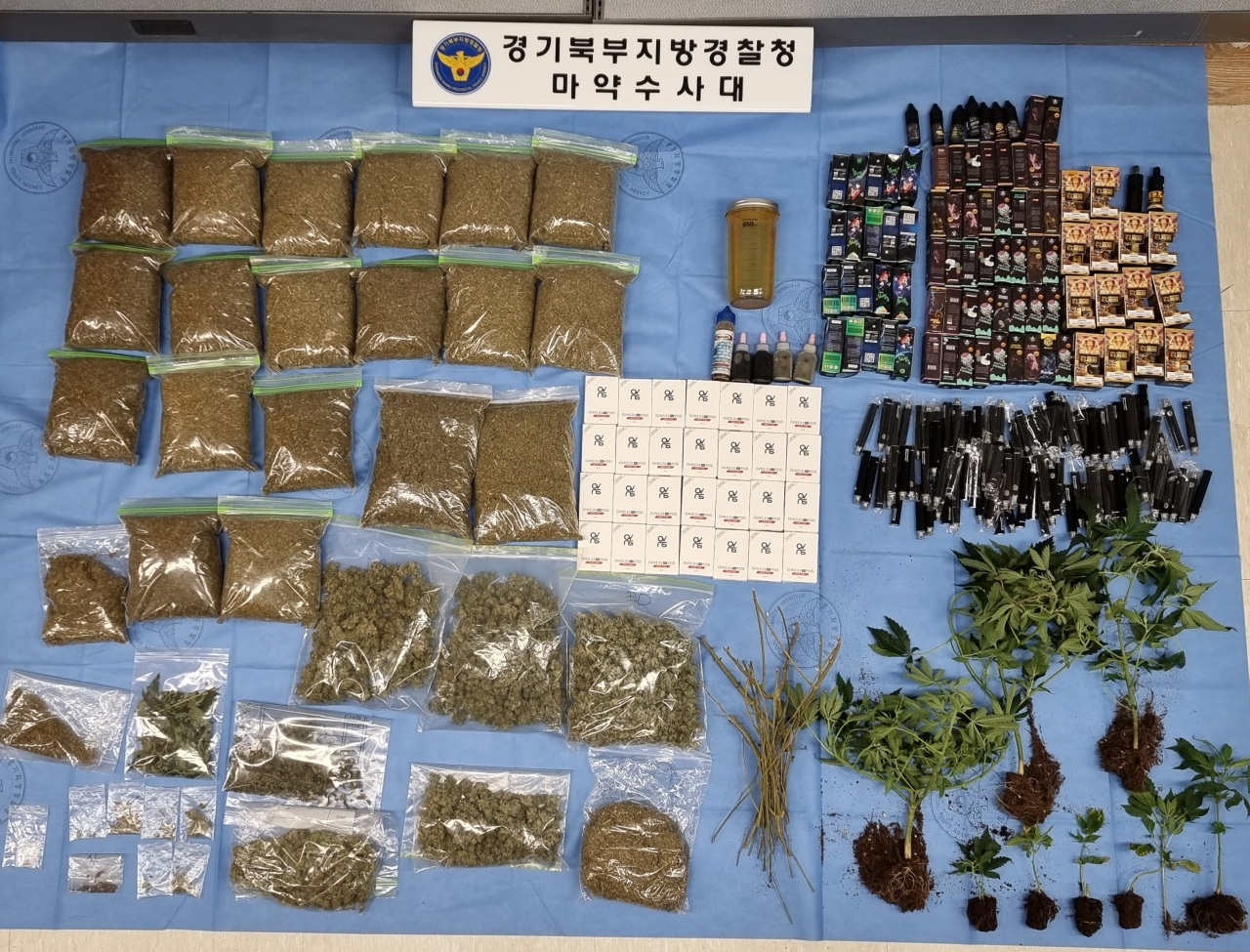 Evidence of drug offenders arrested in Gyeonggi Province (National Police Agency)