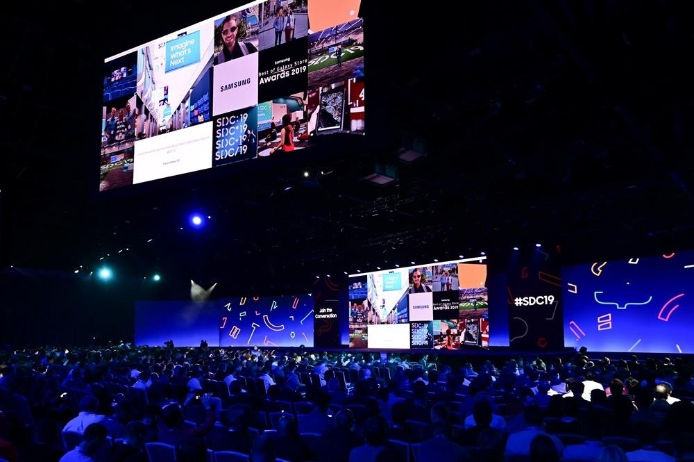 This photo provided by Samsung Electronics Co. shows the Samsung Developer Conference 2019 in San Jose, California. (Samsung Electronics Co.)