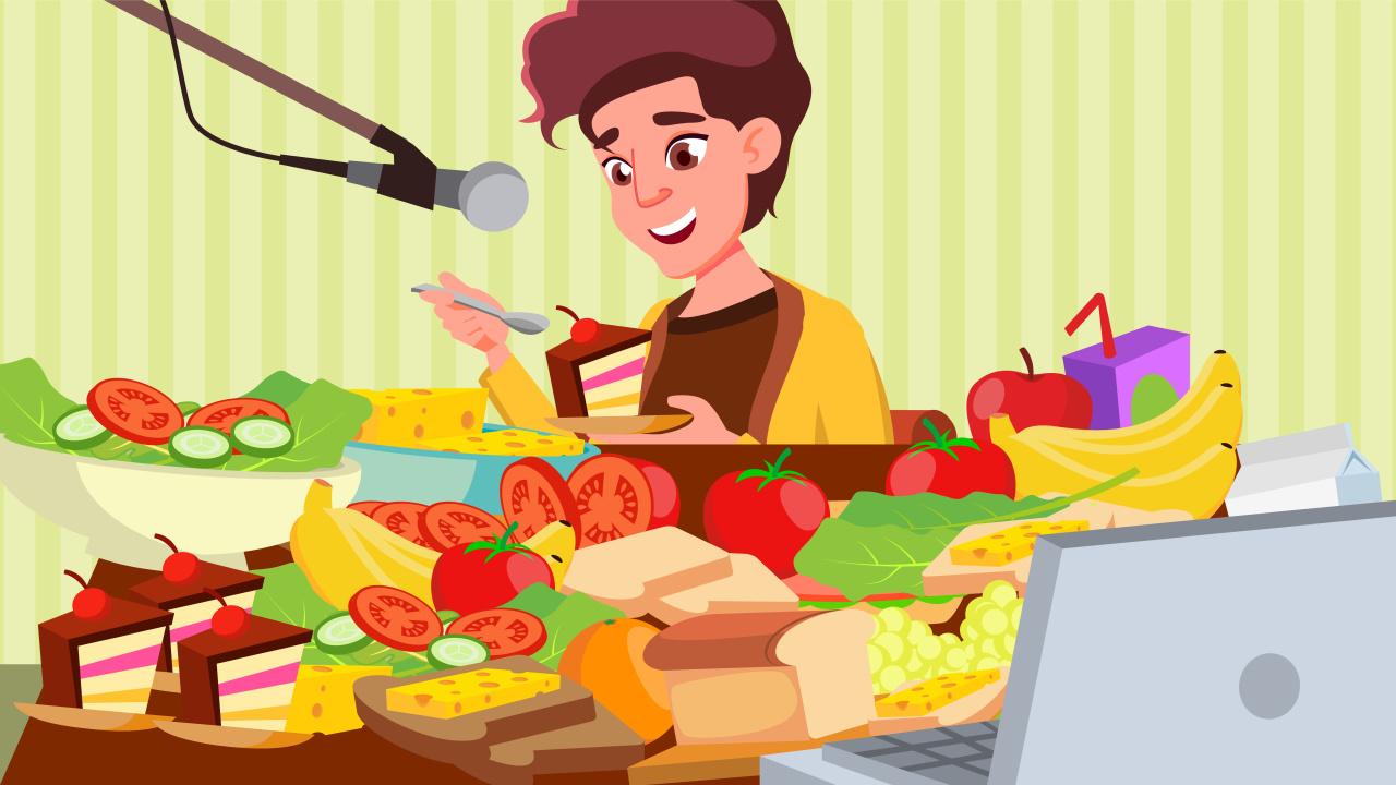 A meokbang streamer consumes a variety of dishes. (123rf)