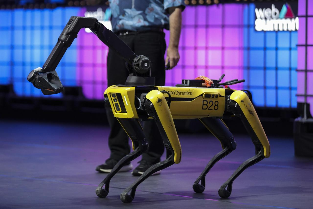This file photo shows Spot, a maneuverable dog-like robot made by Boston Dynamics. (Yonhap)