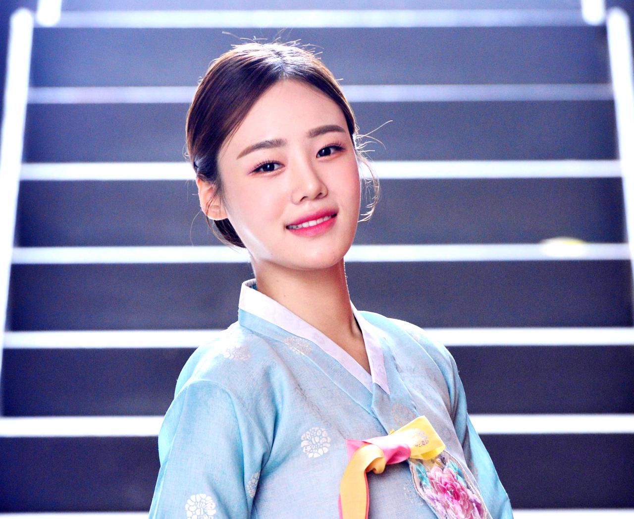 Kim Min-seol, winner of this year's Miss Chunhyang beauty pageant (Park Hyun-koo/The Korea Herald)
