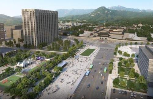This image, provided by the Seoul metropolitan government, illustrates Gwanghwamun Square after it is redesigned. (Seoul metropolitan government)
