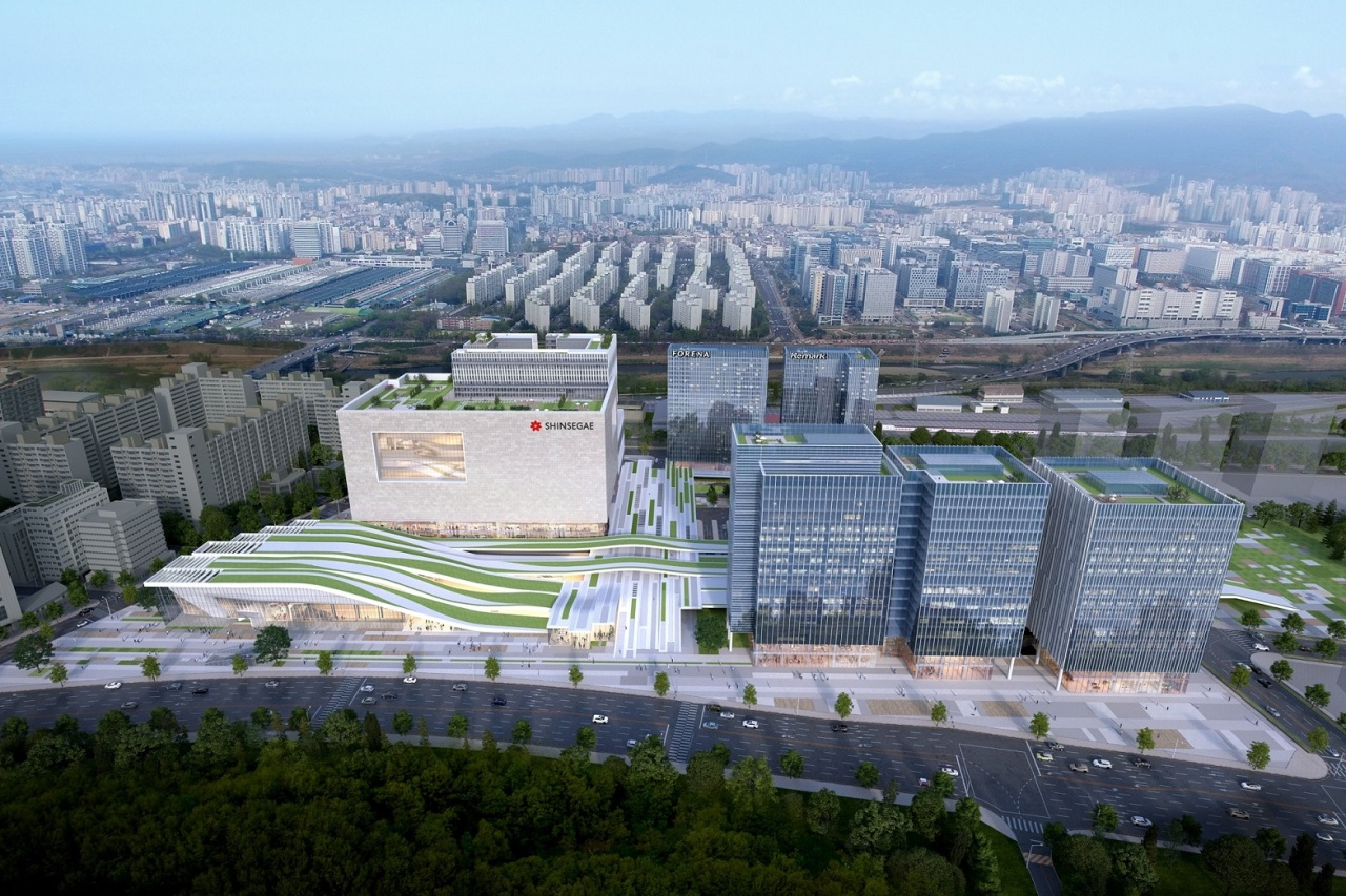 A drawing of Suseo Station Transit Center Complex Development Project (Shinsegae Department Store)