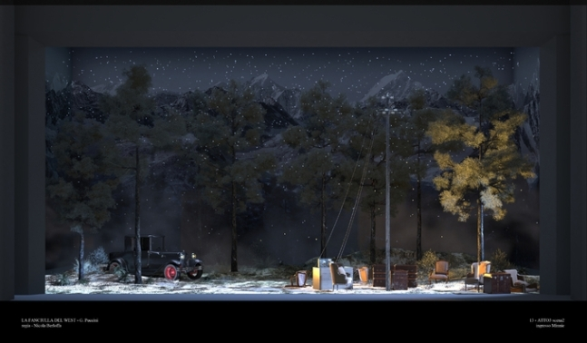 "Scene from the ""La Fanciulla del West"" performance held overseas (KNO)"