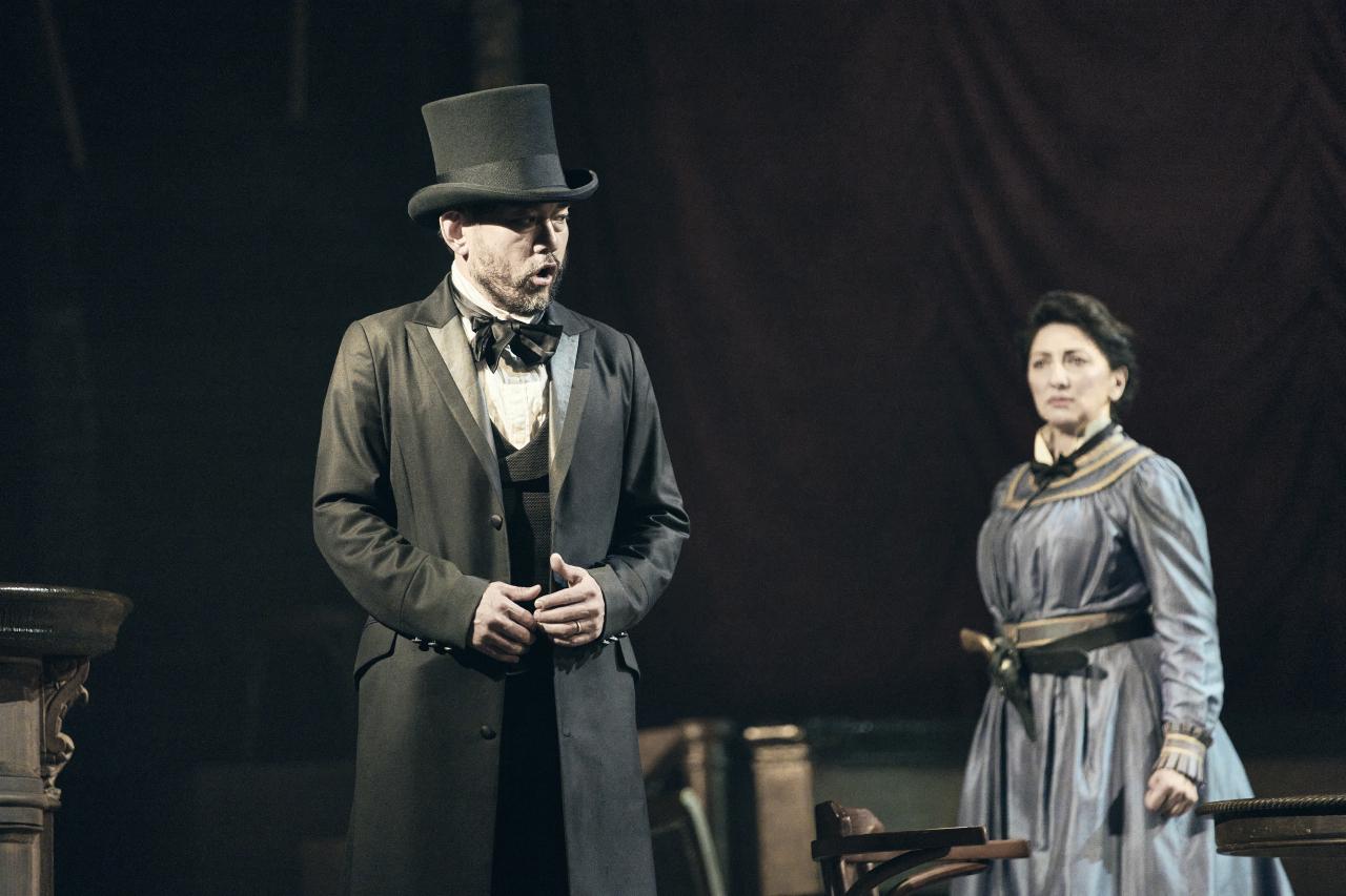 "Scene from Korea National Opera's performance of ""La Fanciulla del West"" (KNO)"