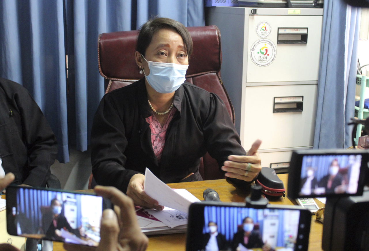 Min Min Soe, a lawyer assigned by the National League for Democracy party to represent deposed leader Aung San Suu Kyi (AP-Yonhap)