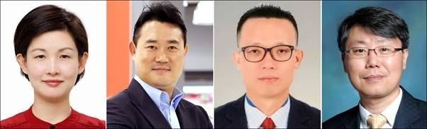Chief Marketing Officer Cho Ju-yeon, heads of the product departments Kim Woong and Oh Jae-yong and Chief Financial Officer Hwang Jeong-wook (Homeplus)