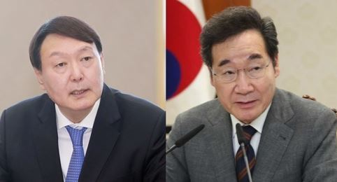 Yoon Seok-youl and Lee Nak-yon (from left) (Yonhap)