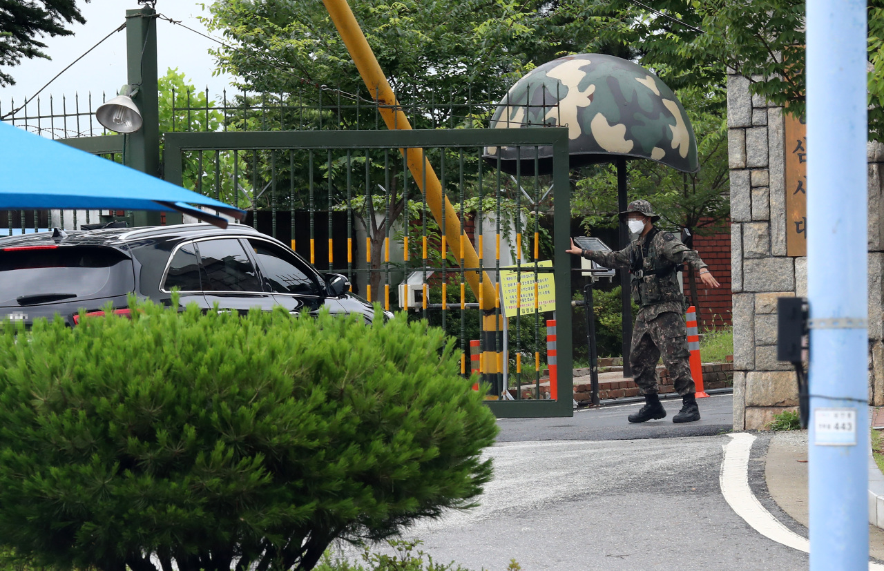 Entrance of the Army's training base in Nonsan, South Chungcheong (Yonhap)