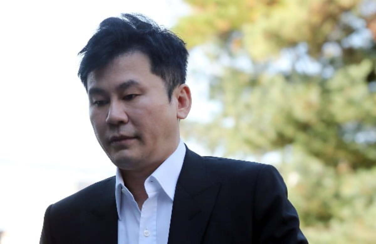 This Nov. 9, 2019, file photo shows Yang Hyun-suk, former CEO of YG Entertainment, entering the Gyeonggi Nambu Police Agency building in Suwon, south of Seoul. (Yonhap)
