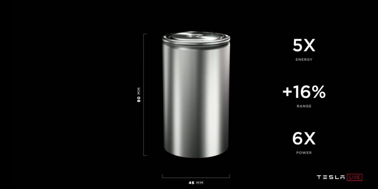 Tesla 4680 battery cell (Tesla)