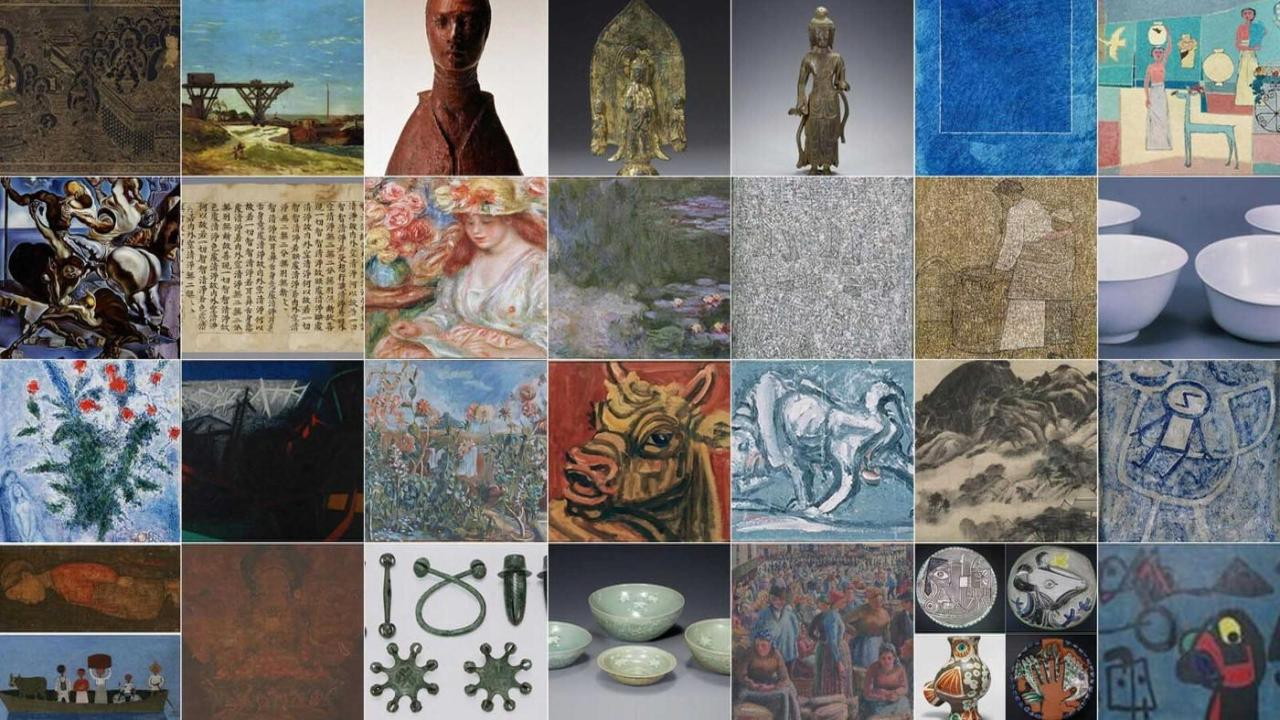 This composite photo, provided by Samsung Electronics Co., shows some of the 23,000 pieces of art donated by the late Samsung Group Chairman Lee Kun-hee. (Samsung Electronics Co.)