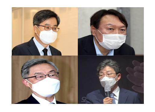 Clockwise from left: Kim Dong-yeon, Yoon Seok-youl, Yoo Seung-min, Choe Jae-hyeong (Yonhap)