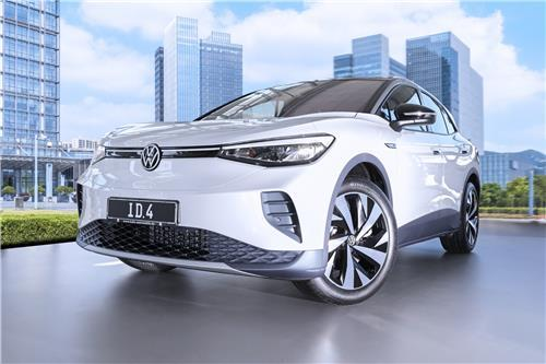 This file photo provided by Hankook Tire shows Volkswagen's ID.4 SUV. (Hankook Tire)