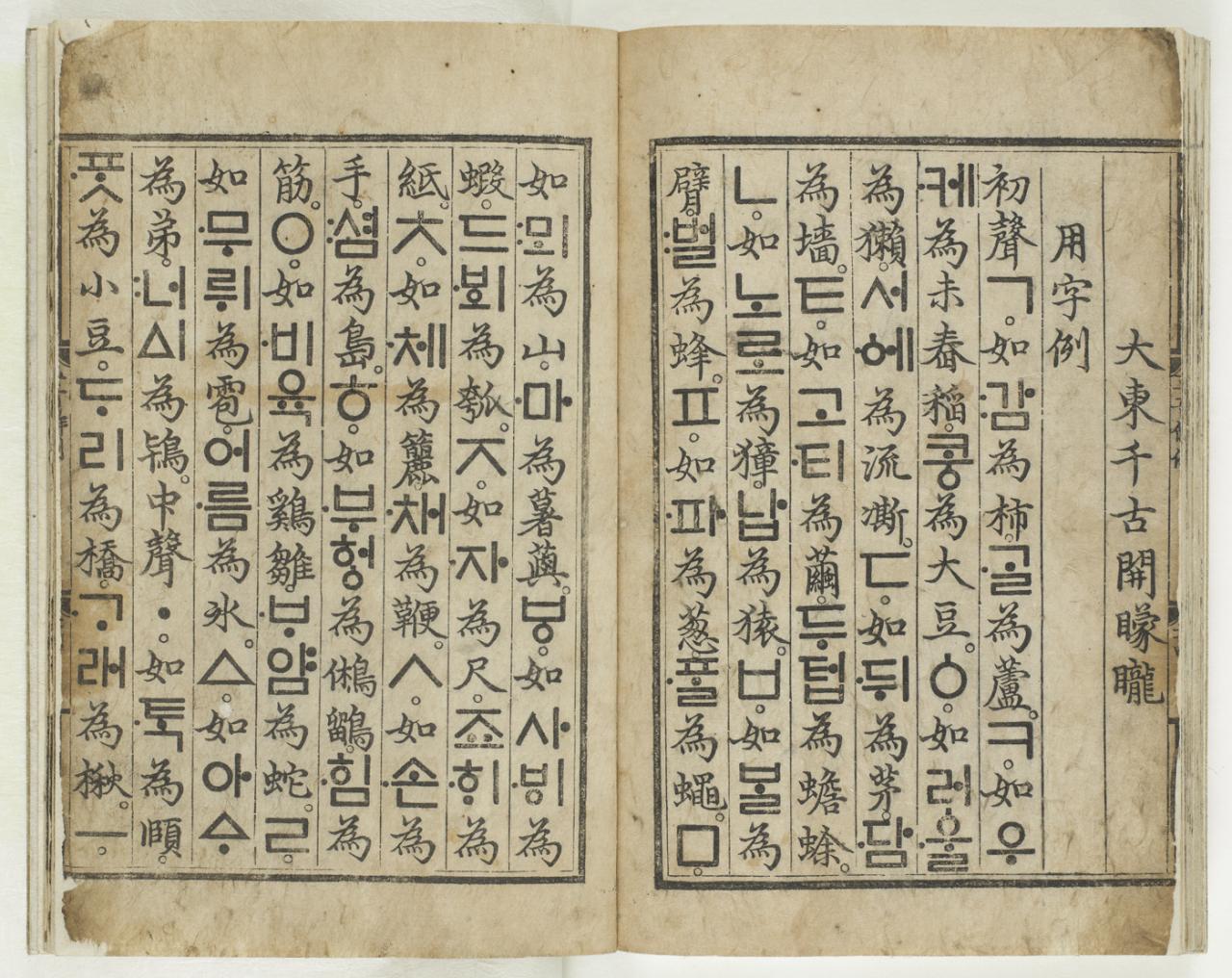 """National Treasure No. 70, """"Hunminjeongeum Haerye"""" (Kansong Art and Culture Foundation)"""