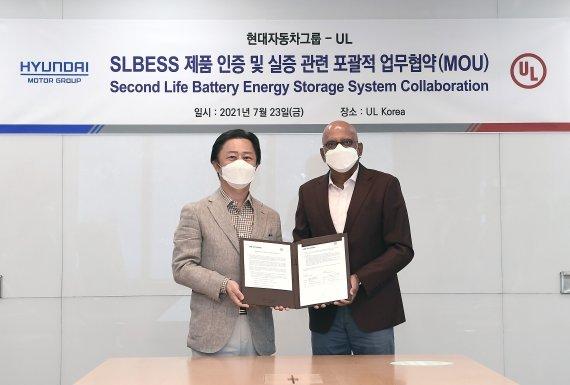 Hyundai Motor Group and UL signs a memorandum of understanding on Friday. (Hyundai Motor)