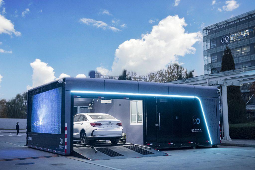 Blue Park Smart Technology's battery swap station in China (SK Innovation)