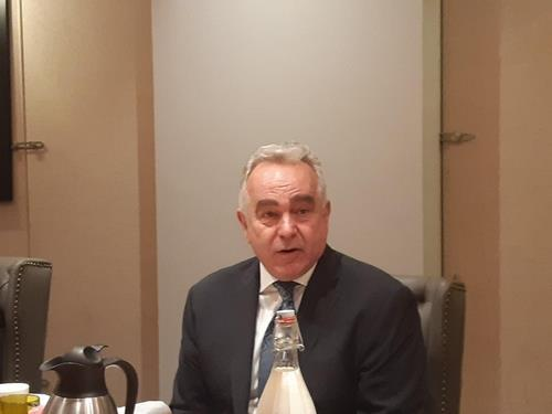 Kurt Campbell, White House policy coordinator for the Indo-Pacific, speaks in a breakfast meeting hosted by the Korea-US Alliance Foundation in Washington on Monday. (Yonhap)