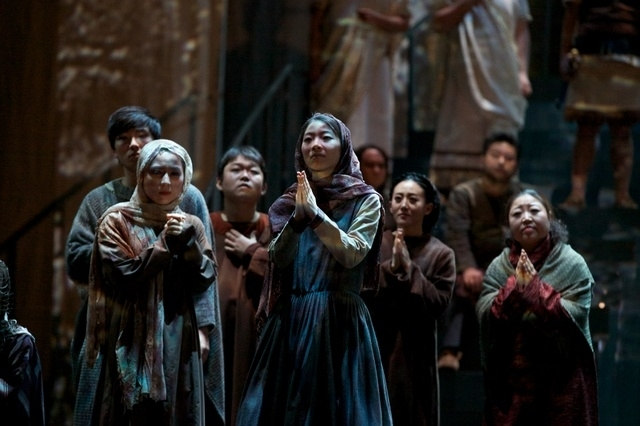 """A scene from """"Nabucco"""" gala performance in 2020 (KNO)"""