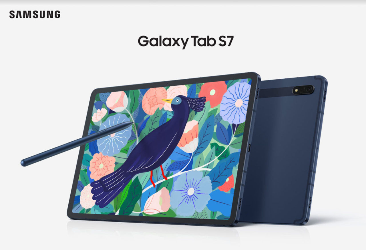 This photo provided by Samsung Electronics Co. on April 5, 2021, shows the company's Galaxy Tab S7+ tablet. (Samsung Electronics Co.)
