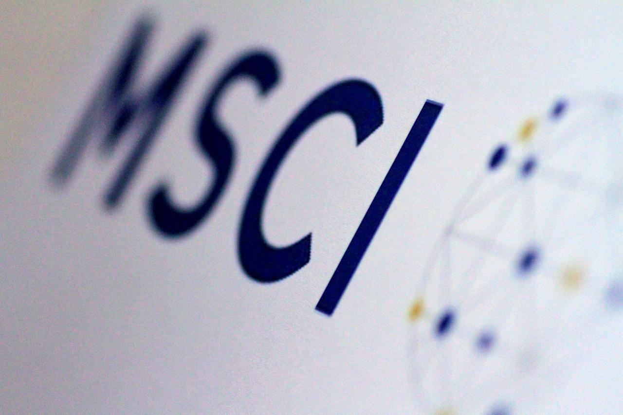 A logo of MSCI (Reuters-Yonhap)