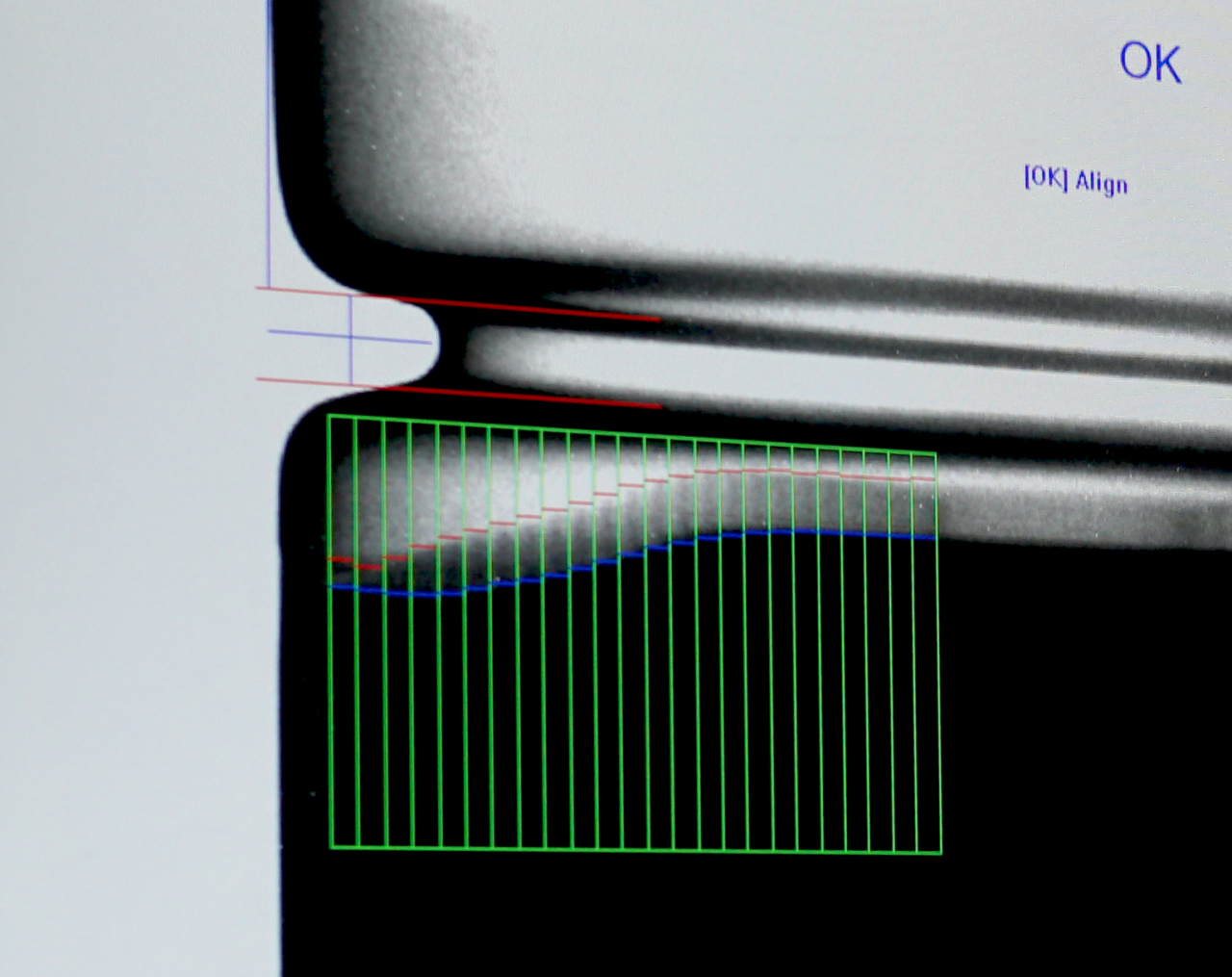 Innometry's X-ray analysis shows misalignment inside a battery. (Innometry)