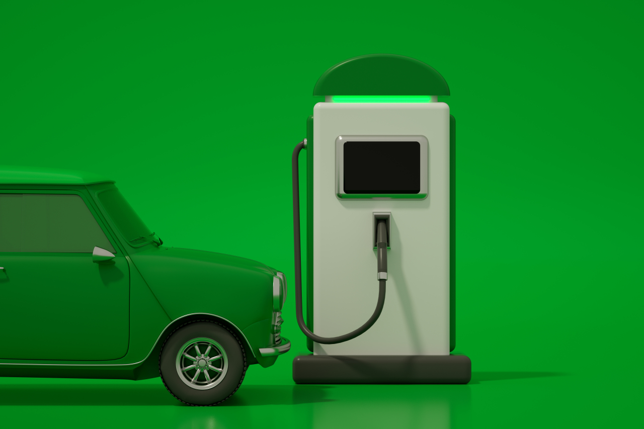 EV charging station graphic (Getty Image Bank)