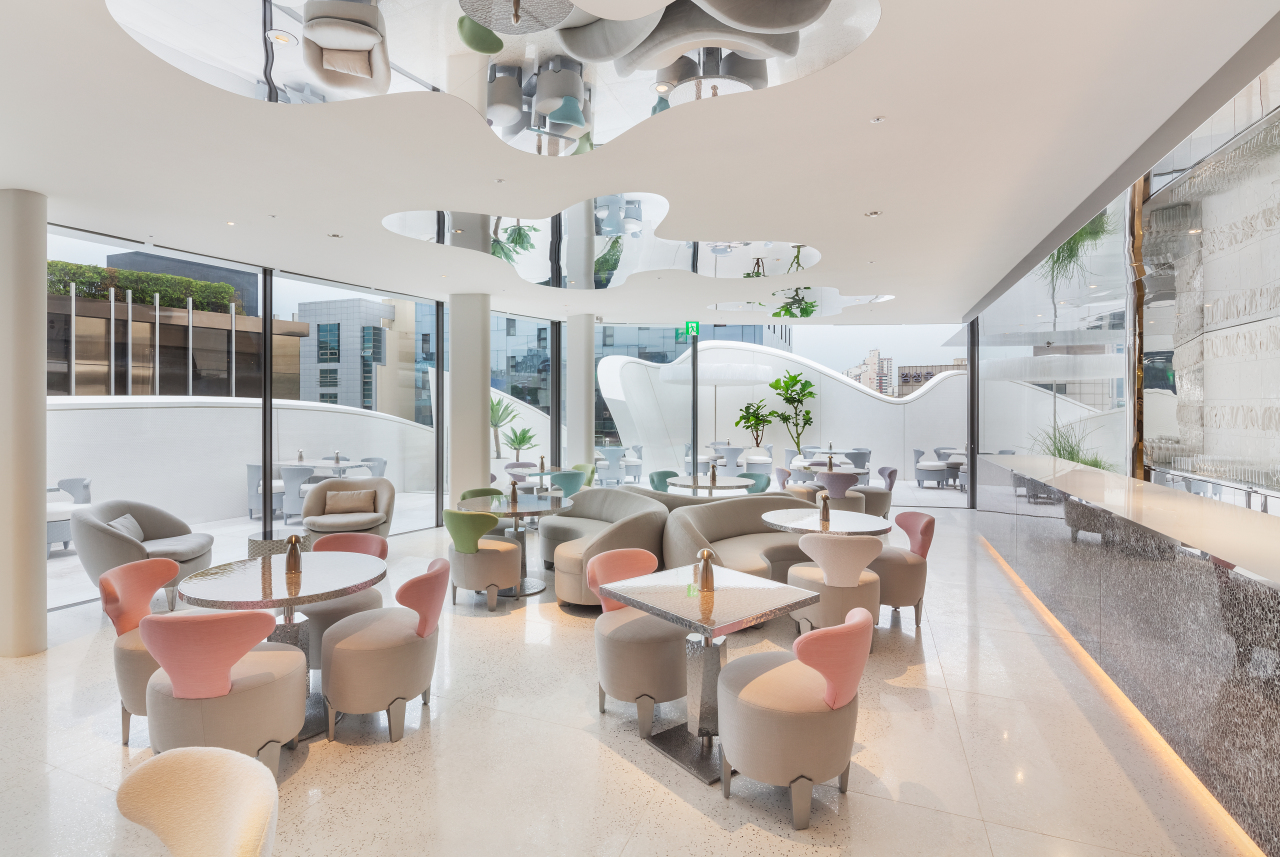 Cafe Dior located on the fifth floor of Dior's flagship boutique in Cheongdam-dong, southern Seoul (Dior Korea)