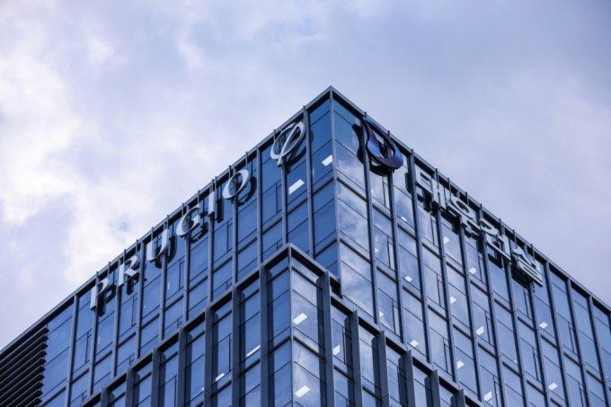 An exterior view of Daewoo E&C's headquarters in central Seoul. (Daewoo E&C)