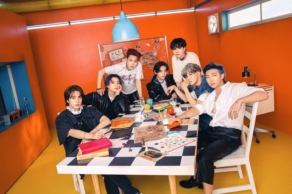 This photo, provided by Big Hit Music, shows South Korean superband BTS. (Big Hit Music)