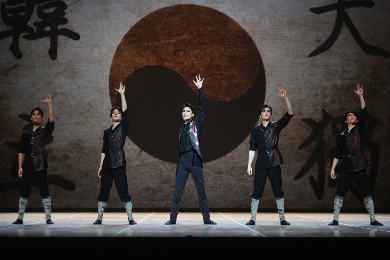 """A scene from the original ballet """"Ahn Jung-geun, a Dance in the Heaven"""" slated to be staged at the Seoul Arts Center from Friday to Sunday (Seoul Arts Center)"""