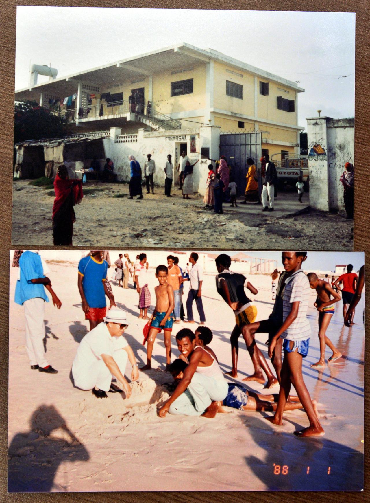 Photos from Ambassdor Kang Shin-sung's time serving in Somalia before the civil war Courtesy of Kang Shin-sung